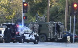 SWAT at shoot-out site