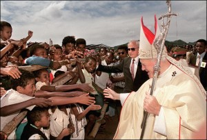 pope John Paul in Africa